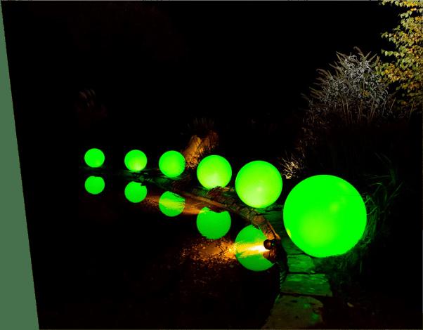 kule świecące solarne